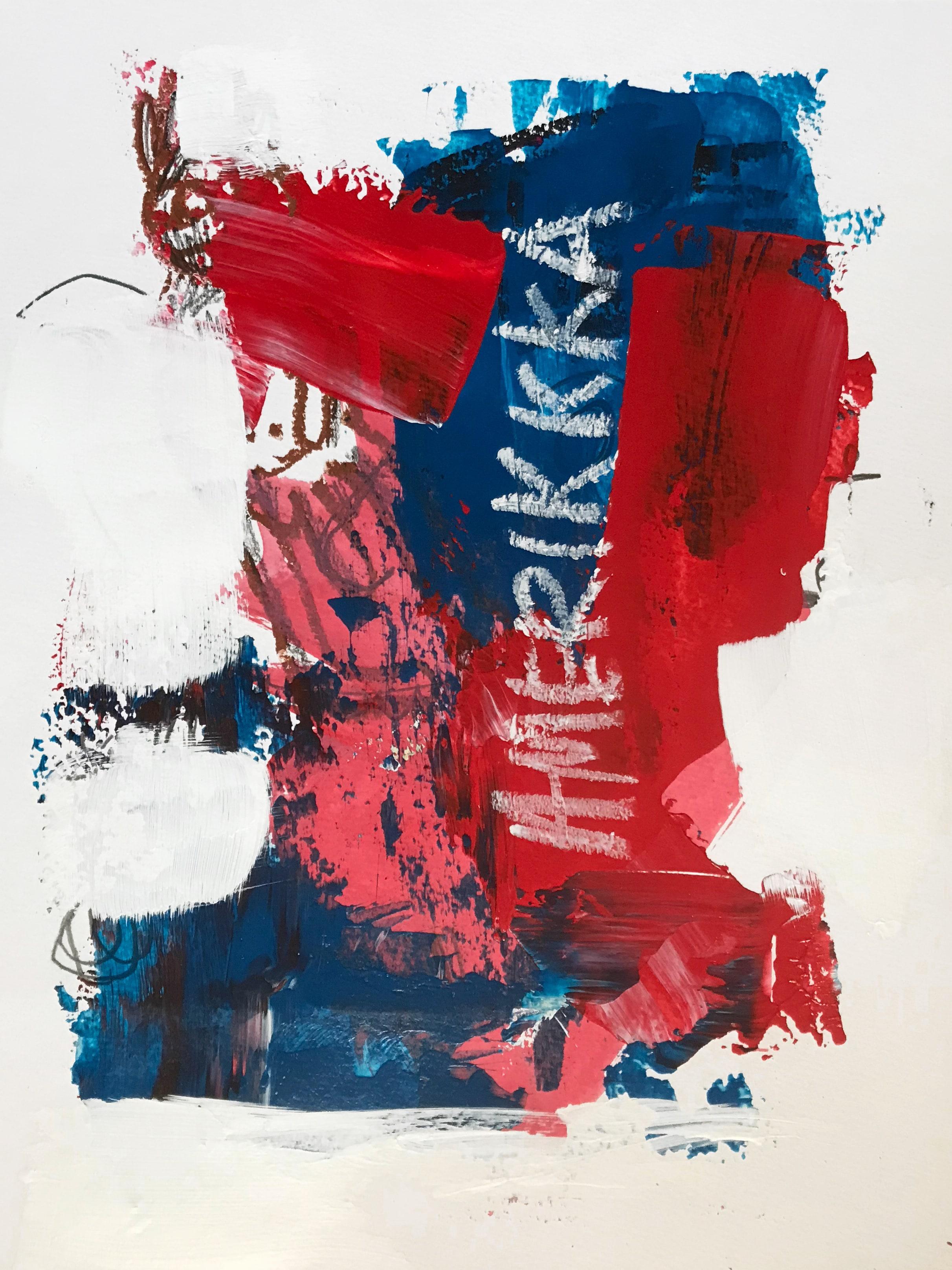 Amerikkka  Acrylic, graphite, oil pastel on paper 24 x 32 cm