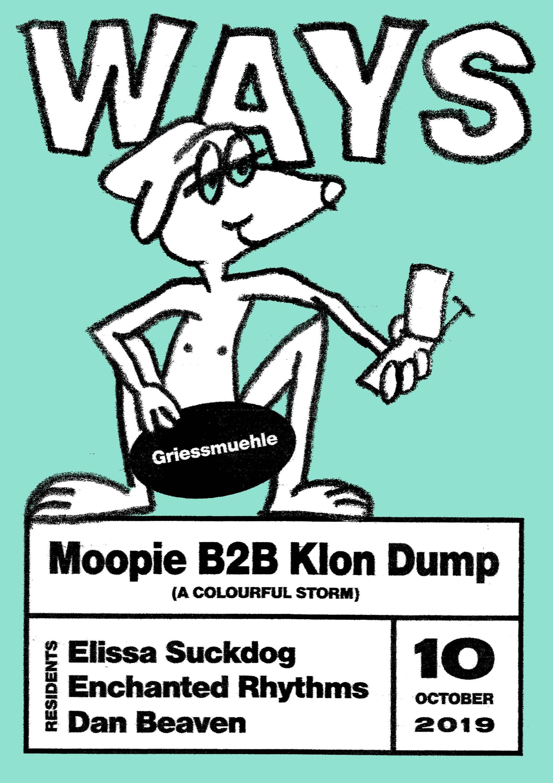 WAYS #3: A party series by  Elissa Suckdog