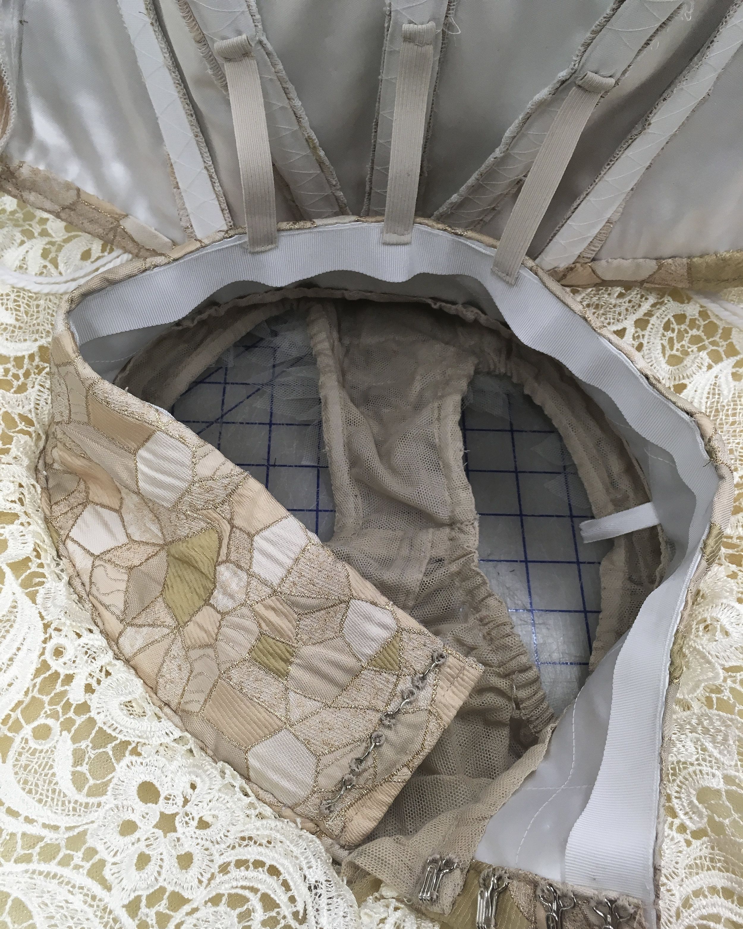 Interior detail with alternate lace plate.