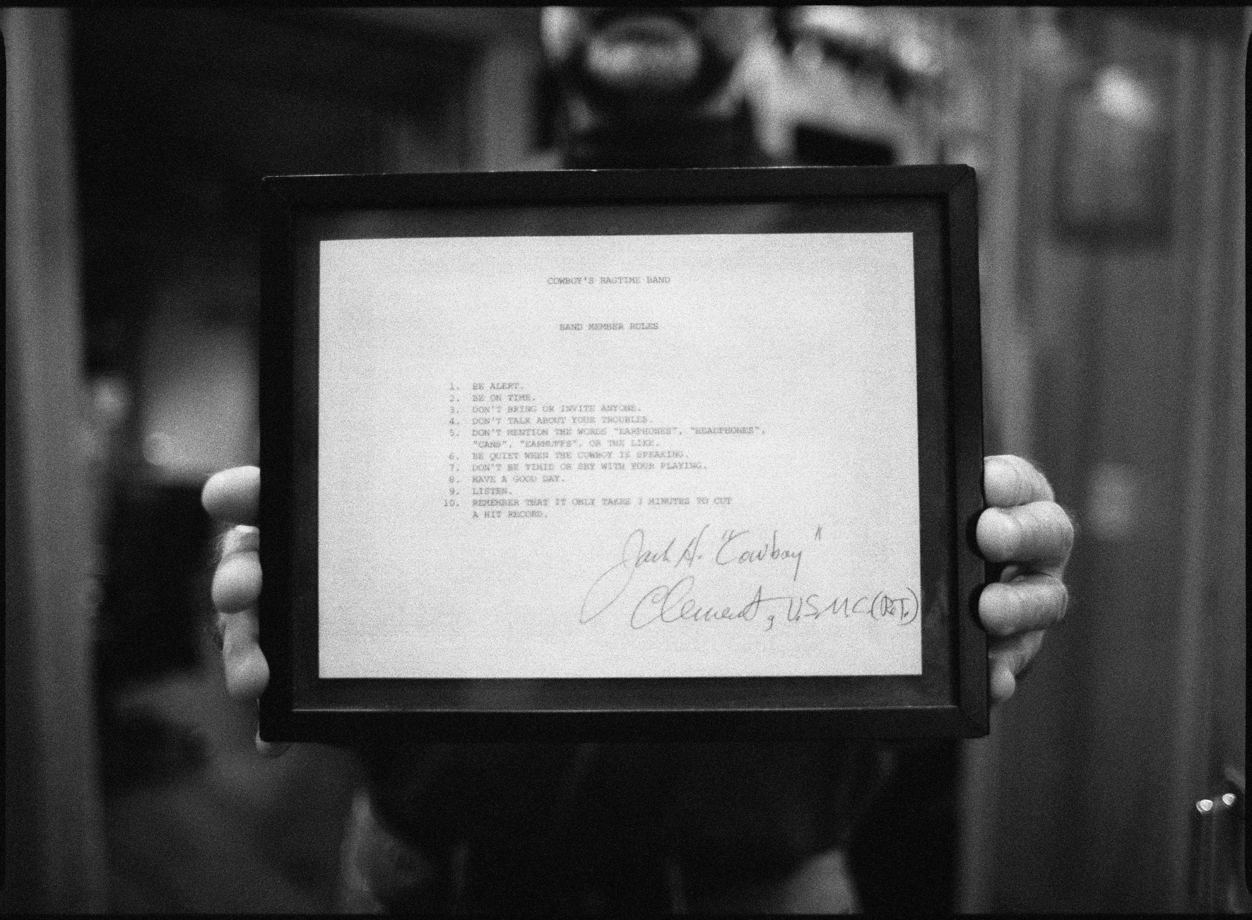 """Cowboy Jack Clement's """"Studio Rules"""""""