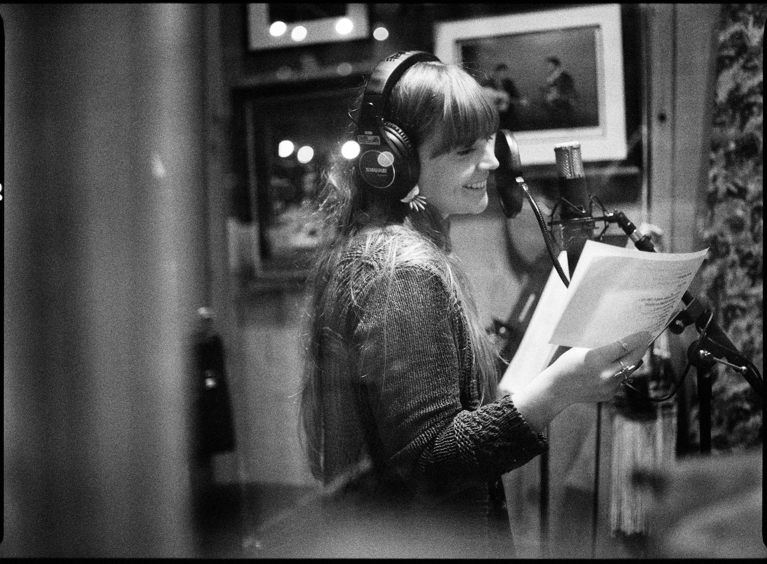 Courtney Marie Andrews recording at Cash Cabin