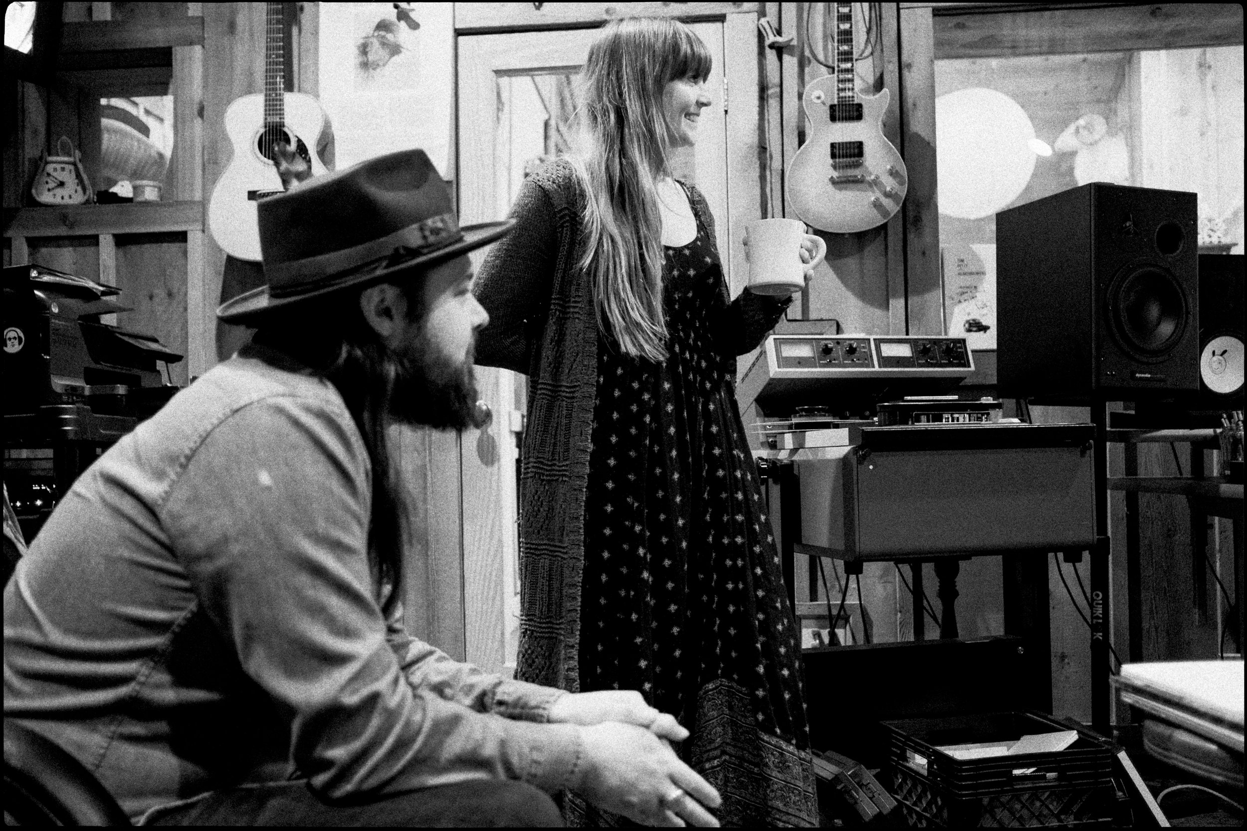 Courtney Marie Andrews and Caleb Caudle at Cash Cabin