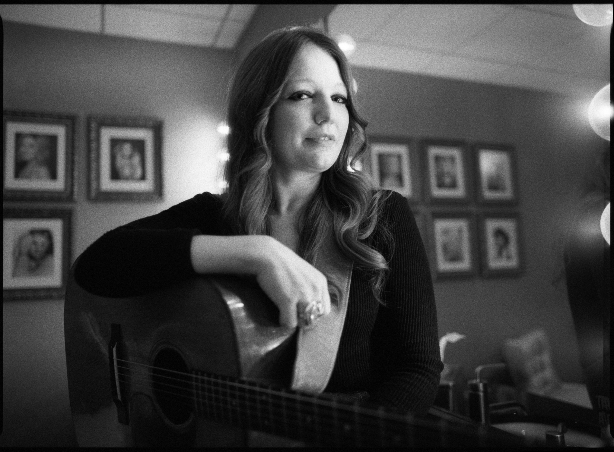 Kelsey Waldon at the Grand Ole Opry backstage in her dressing room