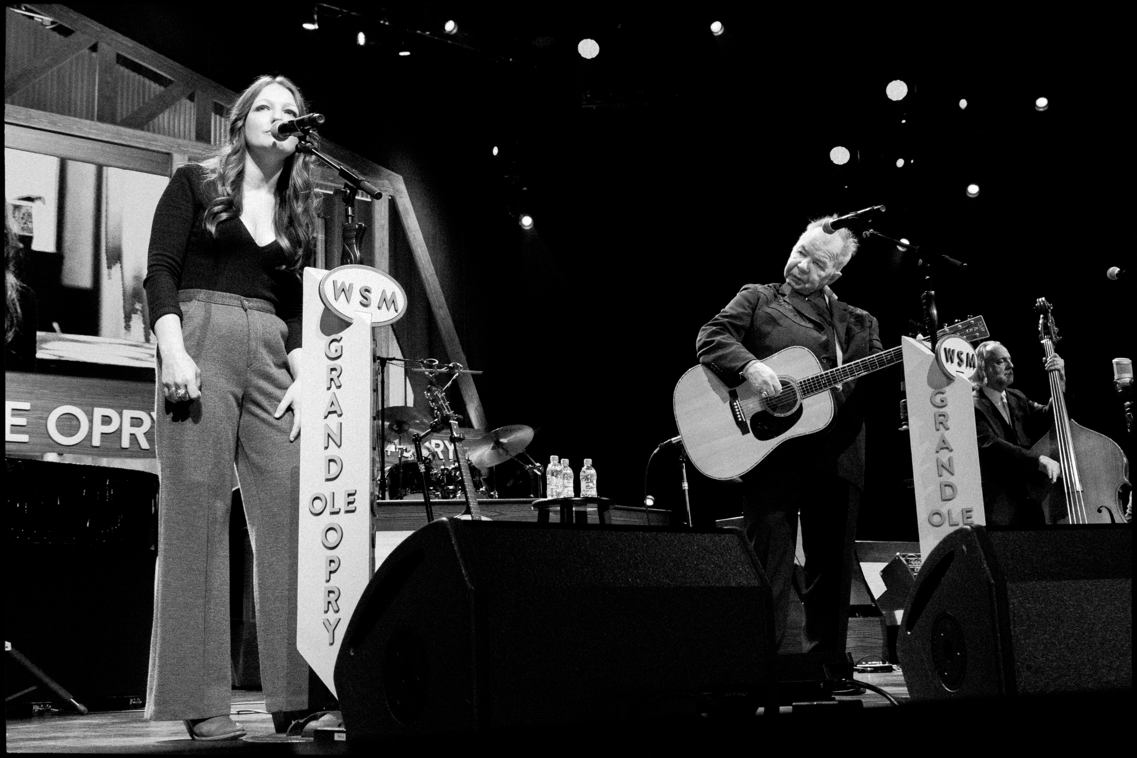 Kelsey Waldon and John Prine sing together at the Grand Ole Opry