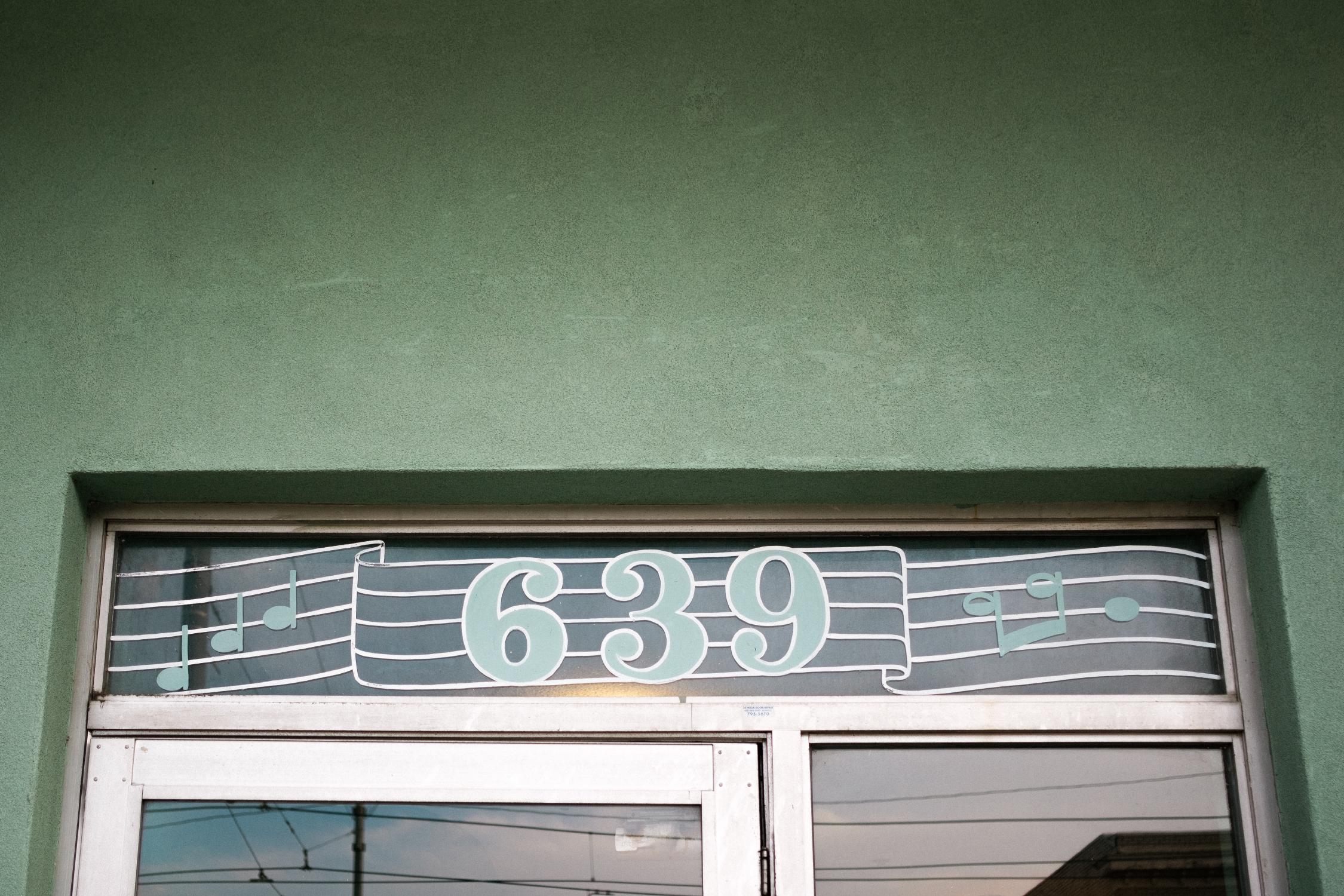 Entrance to Sam Phillips Recording Studio in Memphis, TN