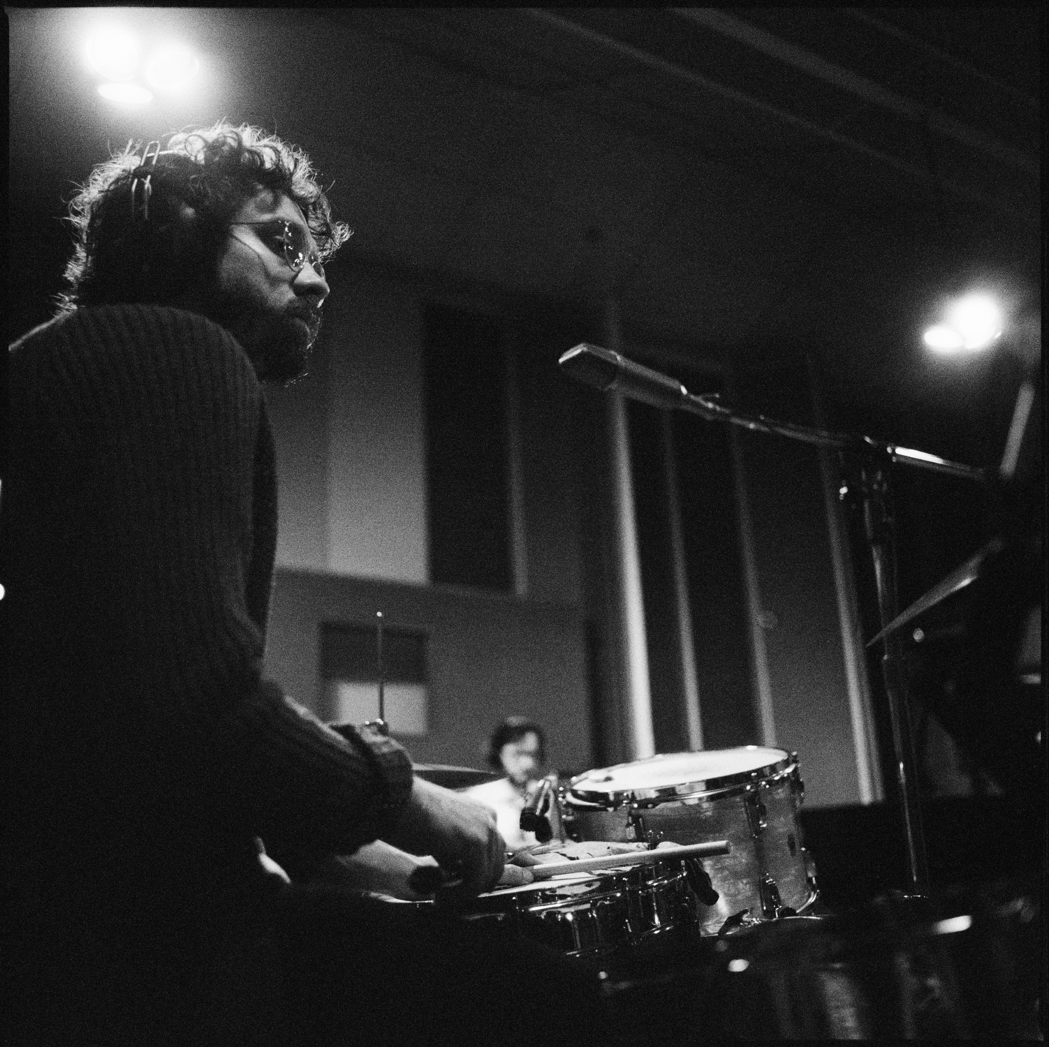 Dom Billett playing drums for Erin Rae at Sam Phillips Recording in Memphis, TN