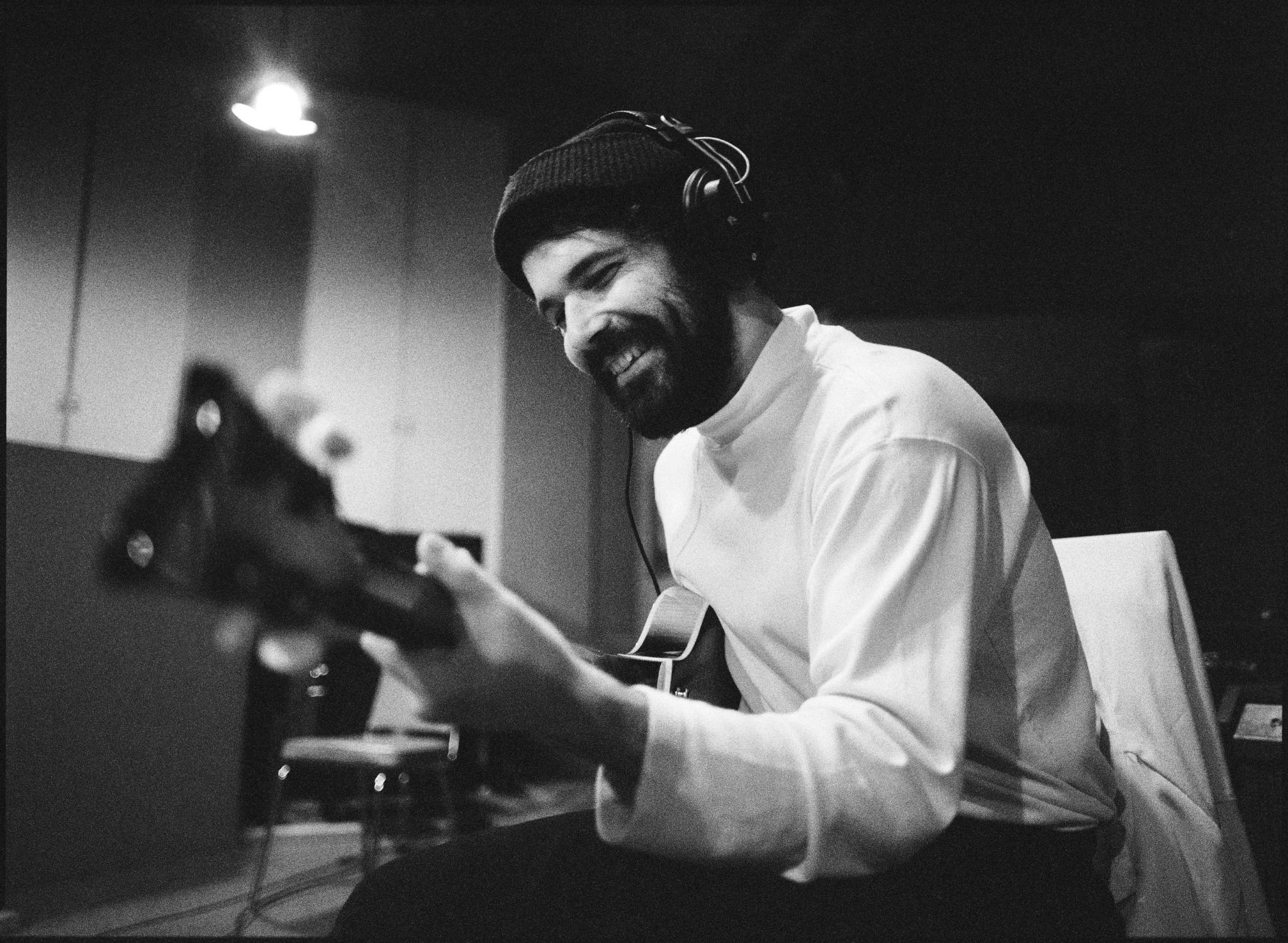 Jerry Bernhardt recording at Sam Phillips Recording in Memphis, TN