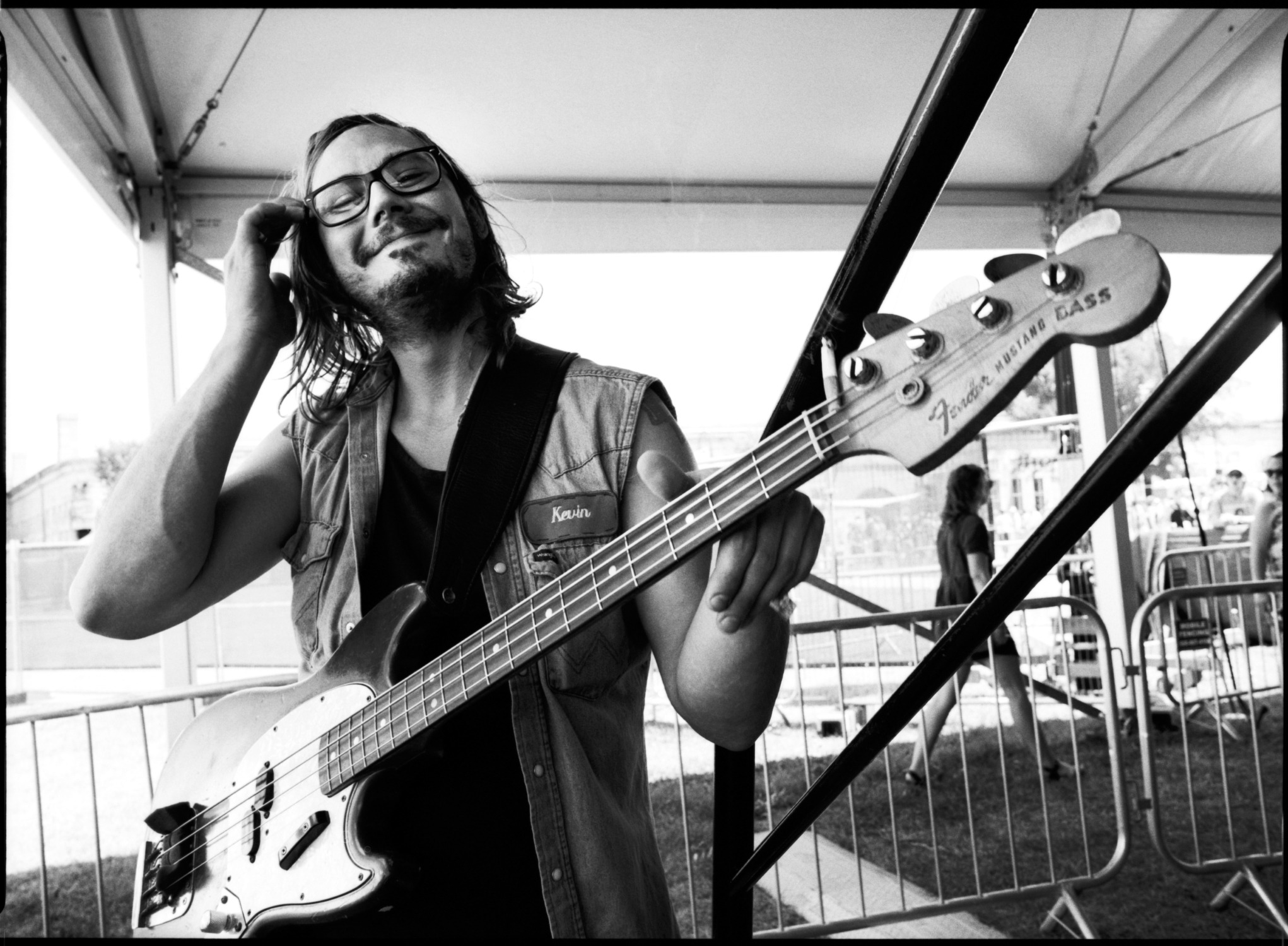 Kevin Black, bass player for margo price | newport folk fest