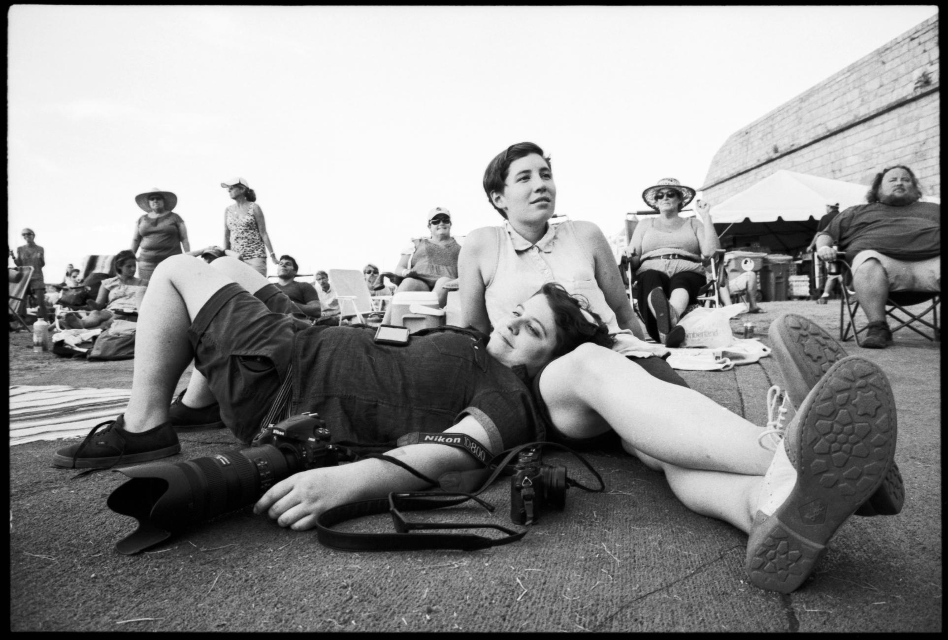 Photographer Monica Simoes and their partner Jenny