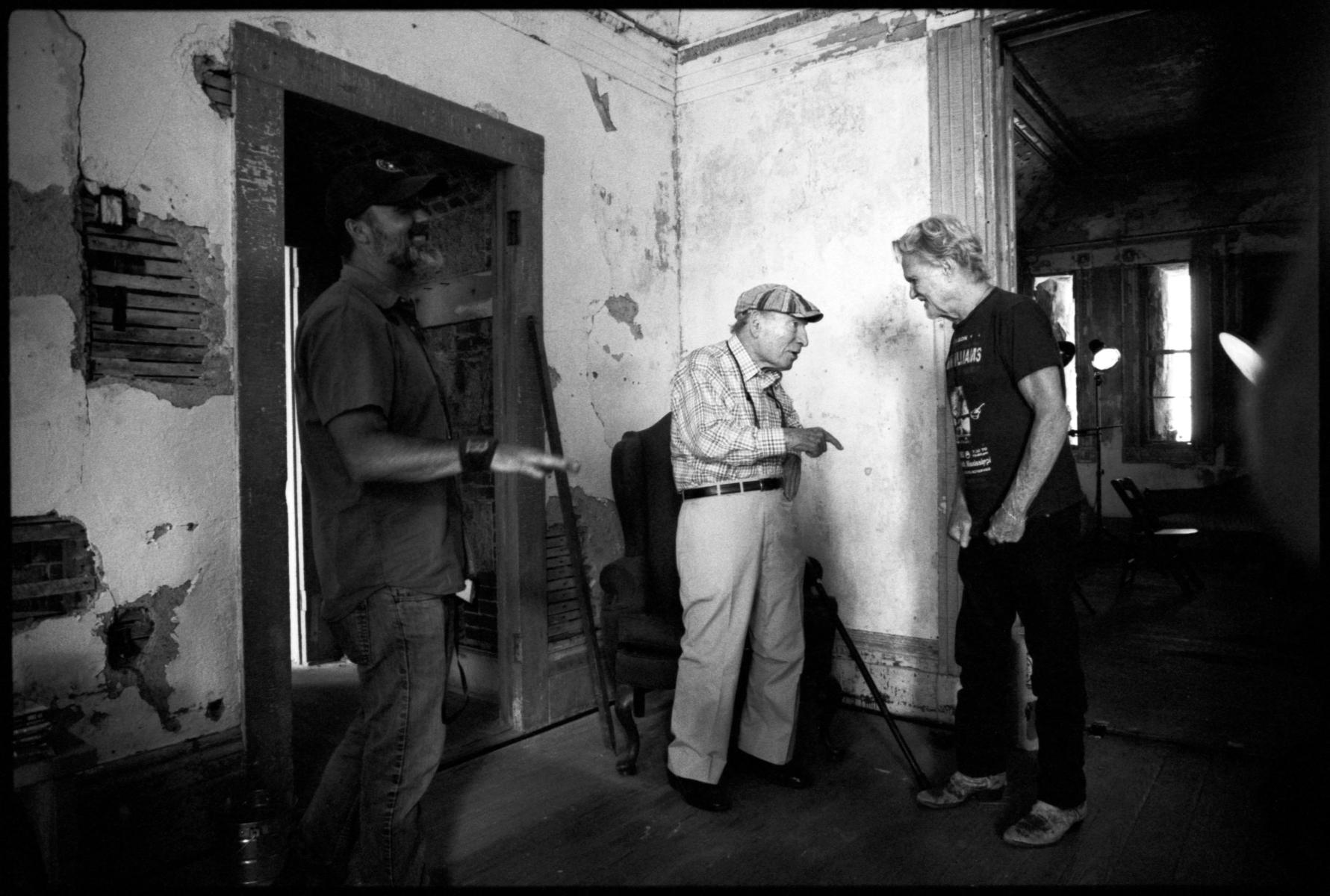 George Wein talking with Kris Kristofferson