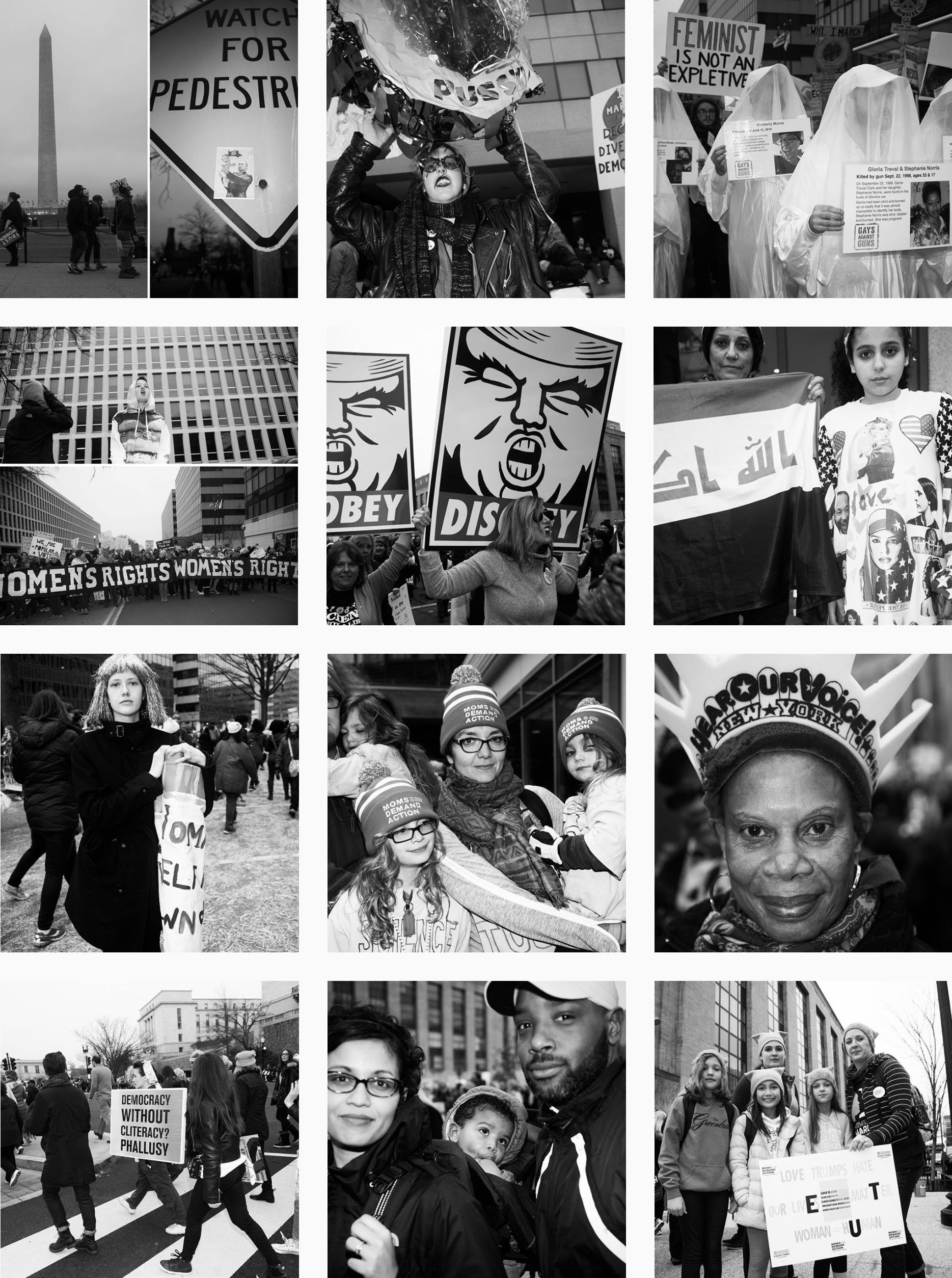 """"""" #WomensMarchOnWashington Live Coverage .""""   Photos & Reporting:   Lili Holzer-Glier   Role:  Assignment, Instagram and website coordinator, sequence, text."""