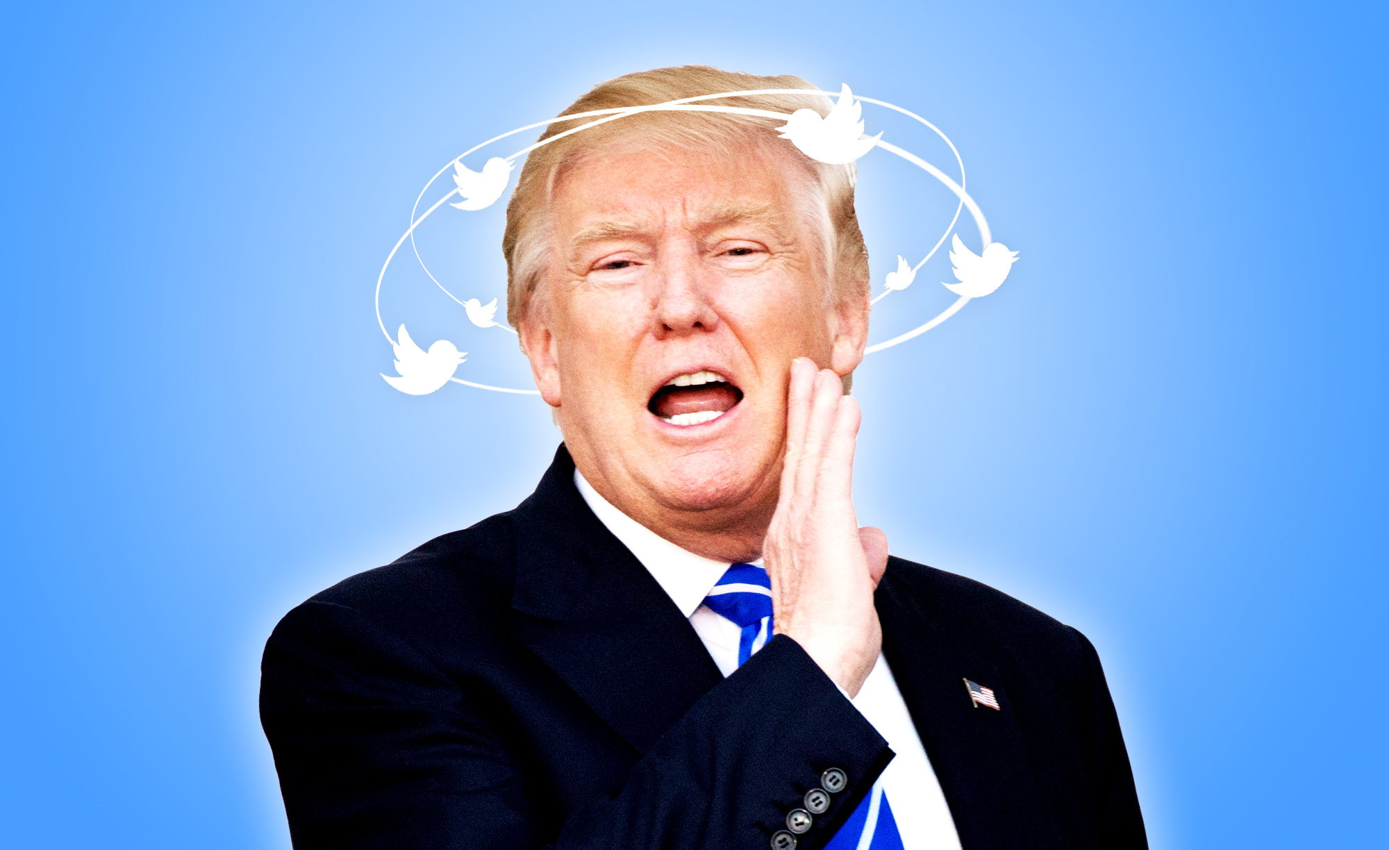 """New York Daily News Photo Illustration:     """"President Trump's top 10 most impactful tweets from 2017."""""""