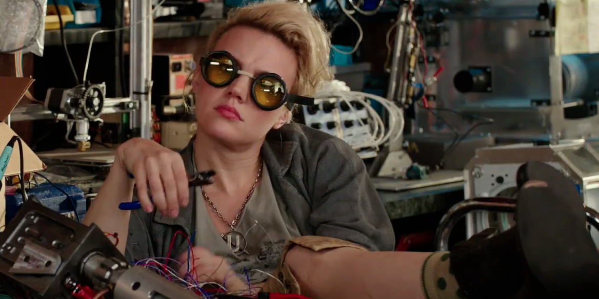 Kate McKinnon as Jillian Holtzmann in  Ghostbusters .