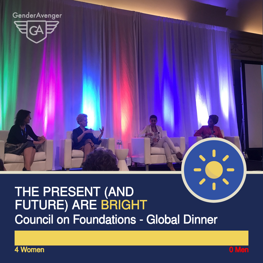 GenderAvenger GA Tally Council On Foundations Global Dinner