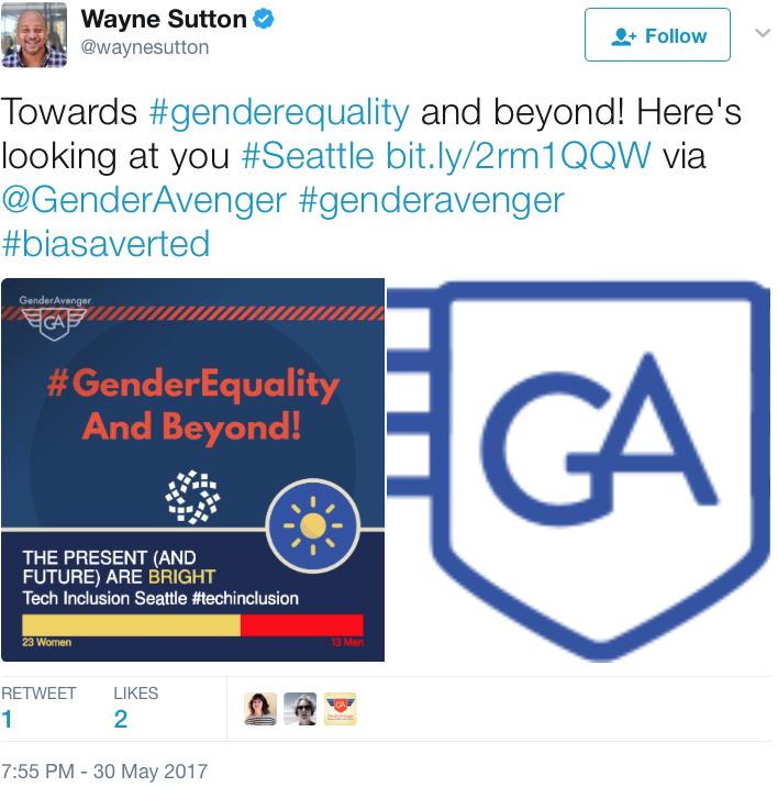 GenderAvenger Wayne Sutton Tech Inclusion Seattle
