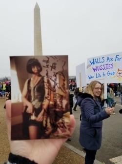 Miss Fisher makes it to the 2017 Women's March in Washington, D.C. via  thetoristori