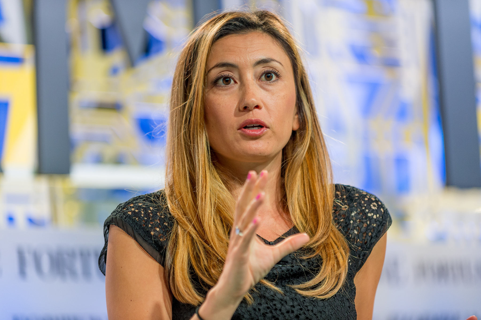 Stitch Fix founder and CEO Katrina Lake. Photo credit:Fortune Brainstorm TECH [ CC BY-NC-ND 2.0 ],  via Flickr .
