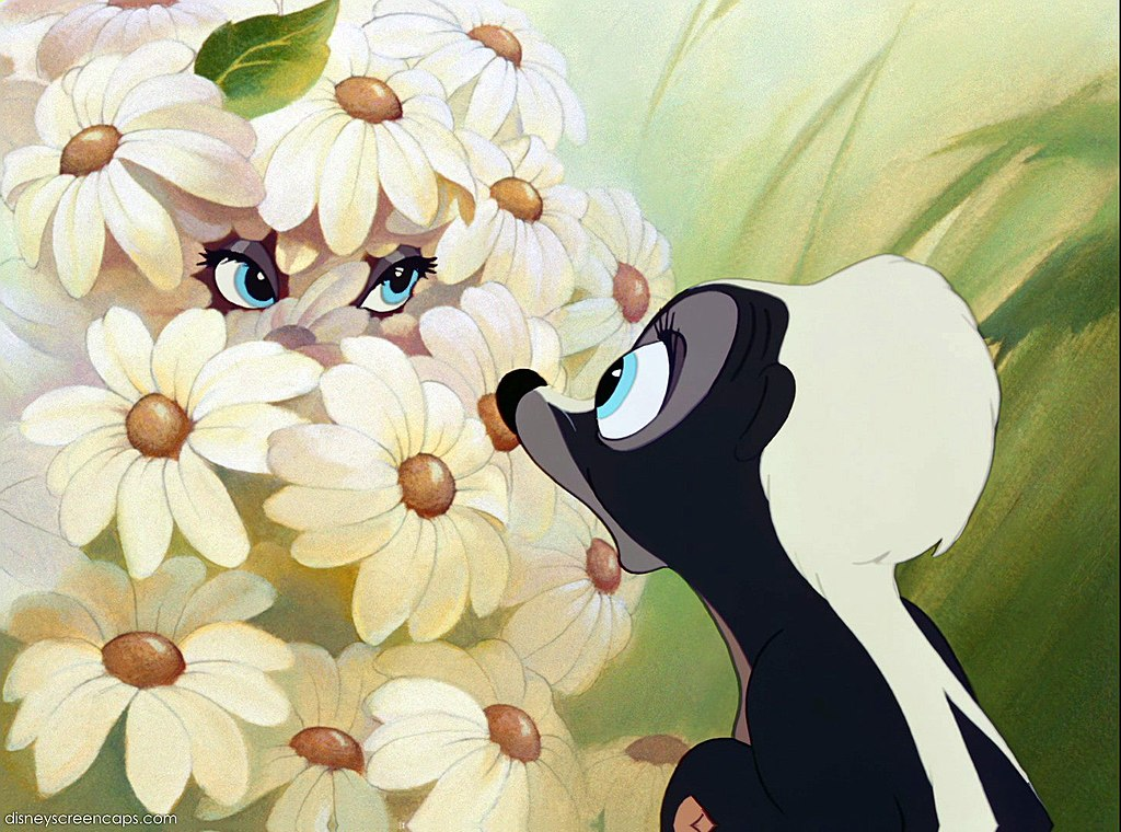 a screenshot of Flower from the trailer for the film  Bambi
