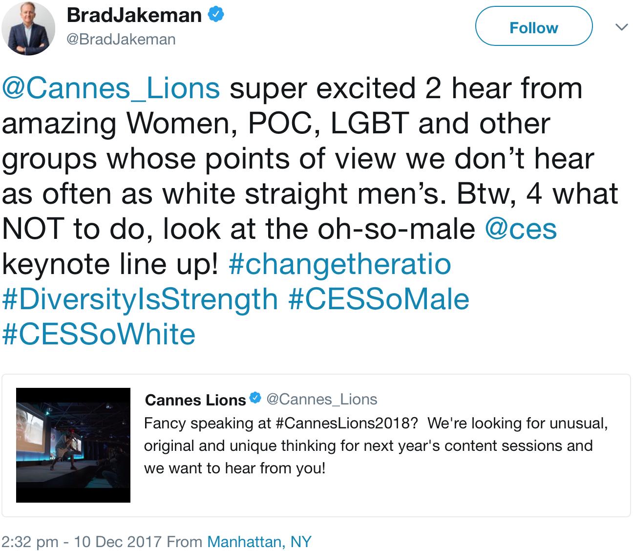 GenderAvenger Brad Jakeman