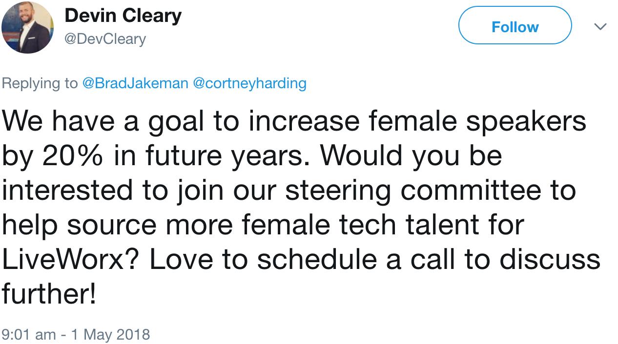 GenderAvenger Devin Cleary tweet
