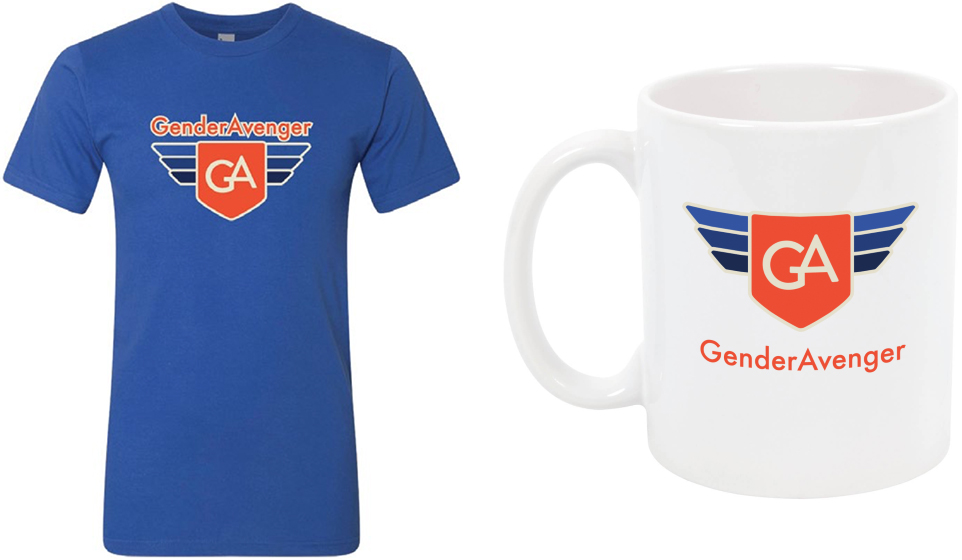 GenderAvenger t-shirt and mug