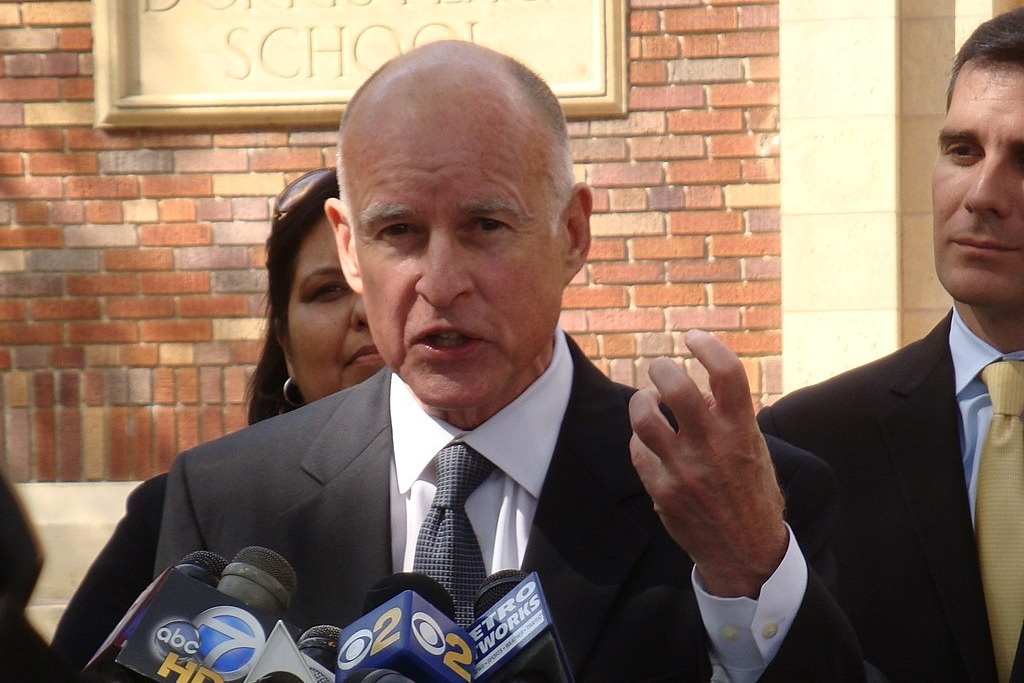 photo credit: Neon Tommy (originally posted to Flickr as Jerry Brown) [ CC BY-SA 2.0 ],  via Wikimedia Commons