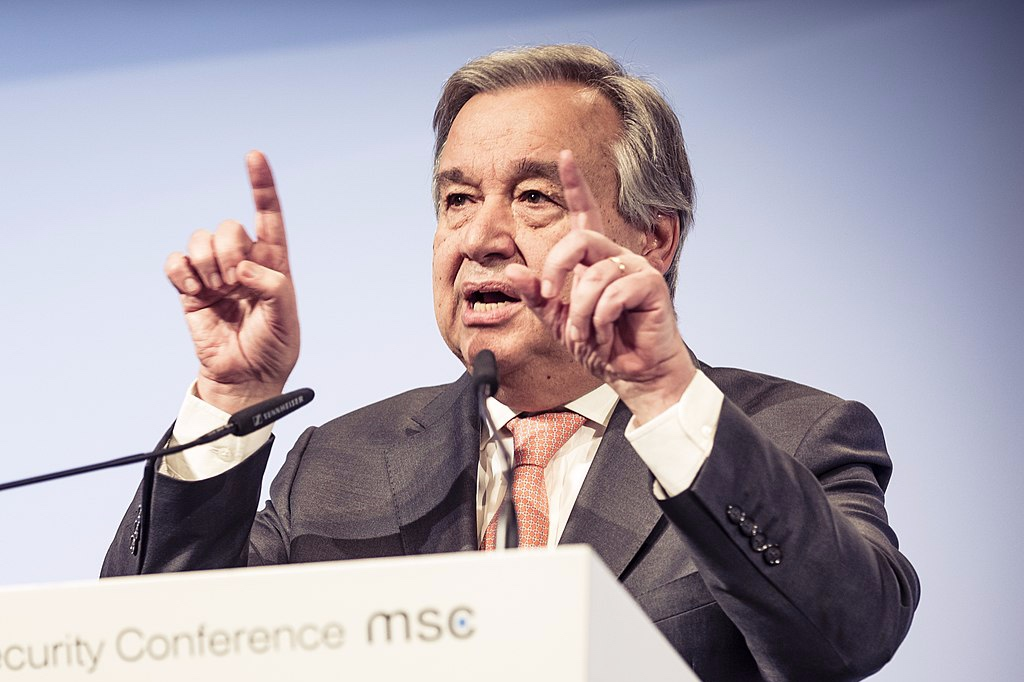 U.N. Secretary-General António Guterres. Photo credit: Kuhlmann / MSC [ CC BY 3.0 de ],  via Wikimedia Commons .