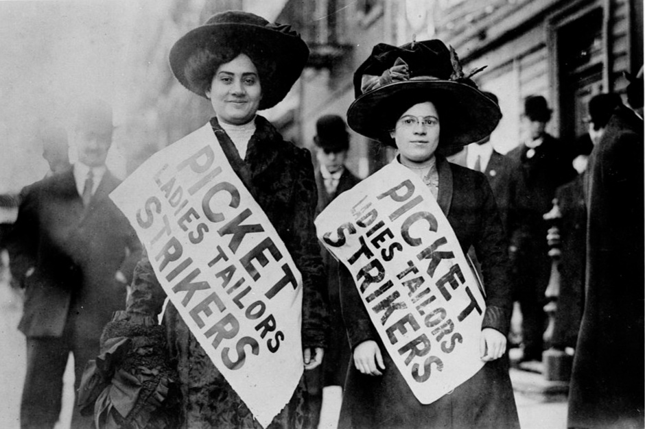 Women picket during Ladies Tailors Strike, February 1910