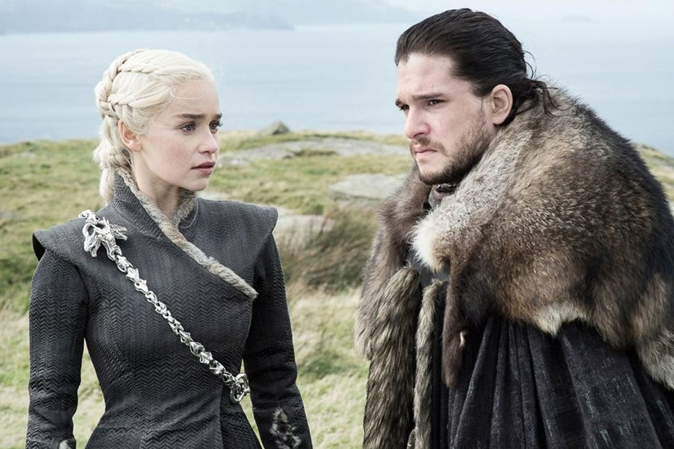 "Emilia Clarke and Kit Harington in ""Game of Thrones"""