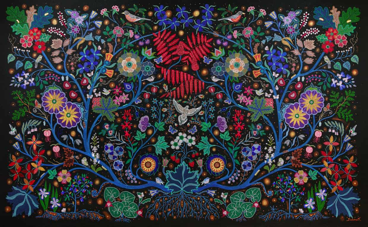 Christi Belcourt (Métis) - The Wisdom of the Universe, 2014. Photograph: Art Gallery of Ontario