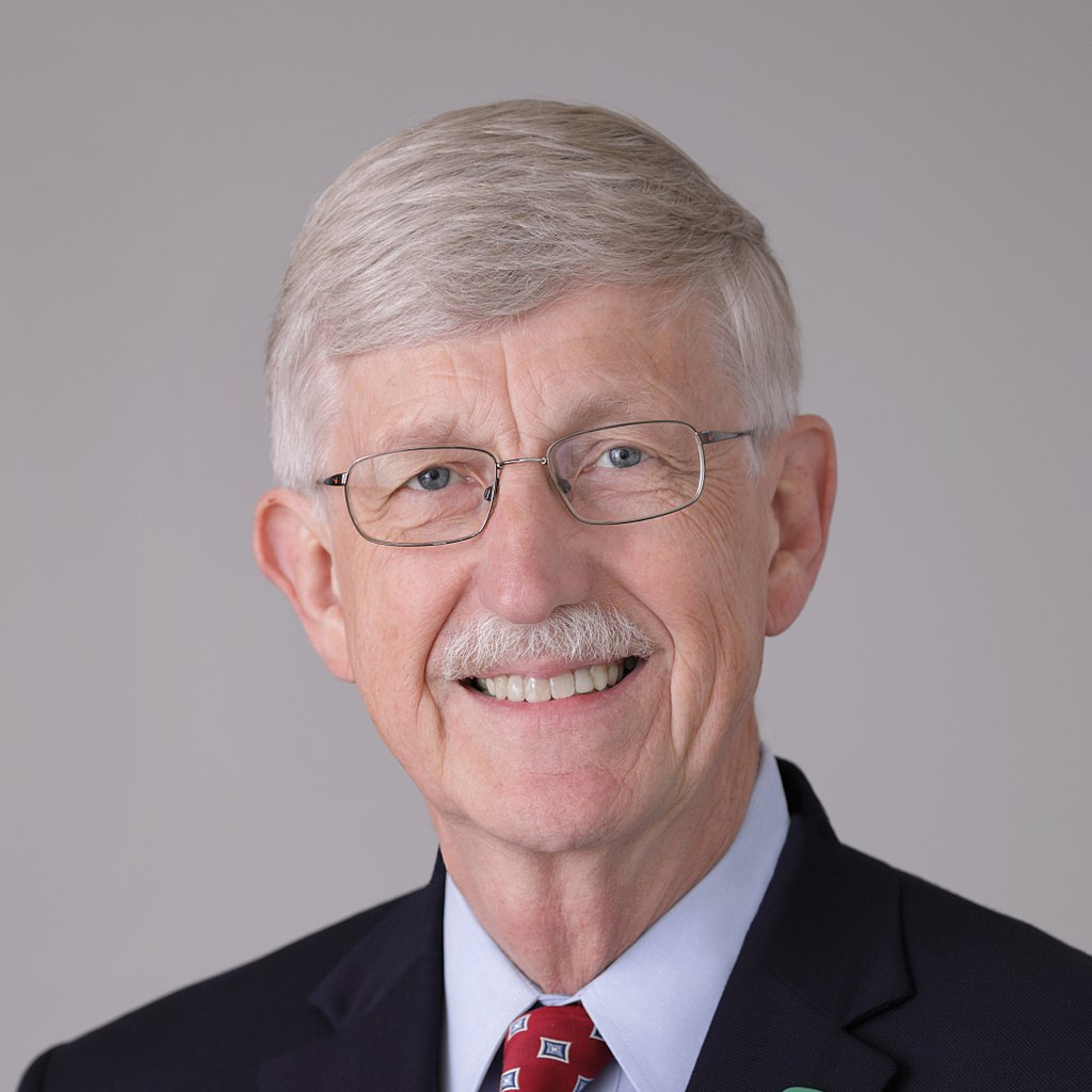 Dr. Francis Collins. Photo credit: National Institutes of Health, United States Department of Health and Human Services [public domain],  via Wikimedia Commons