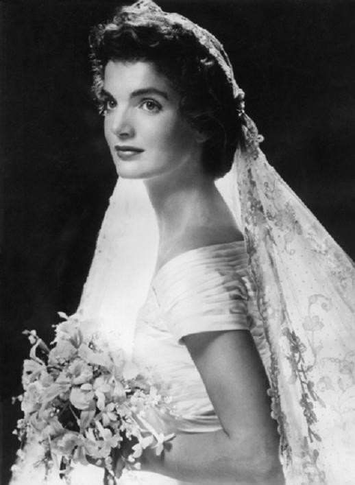 Jackie Kennedy on her wedding day in 1953