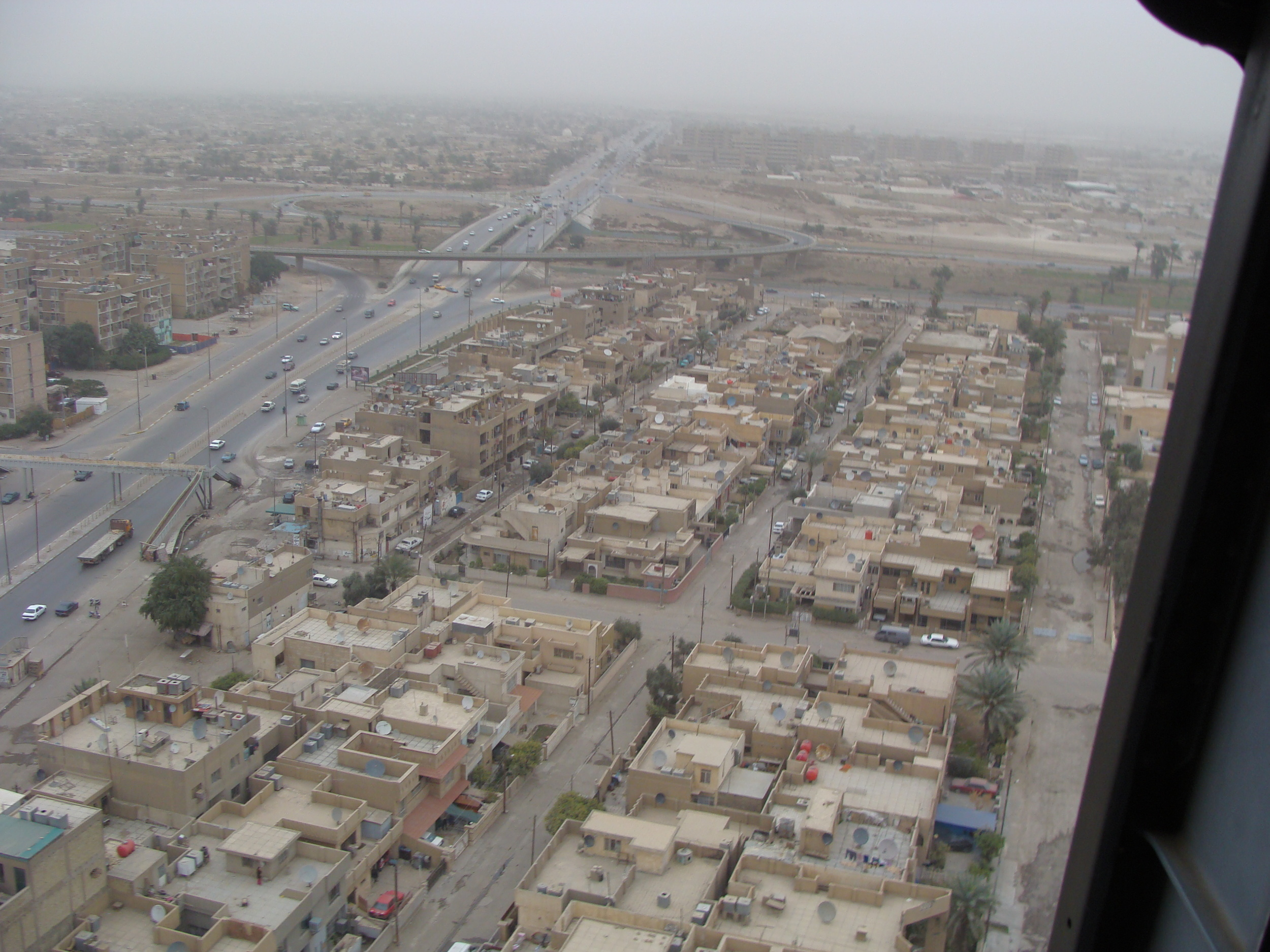 Eastern Baghdad from above