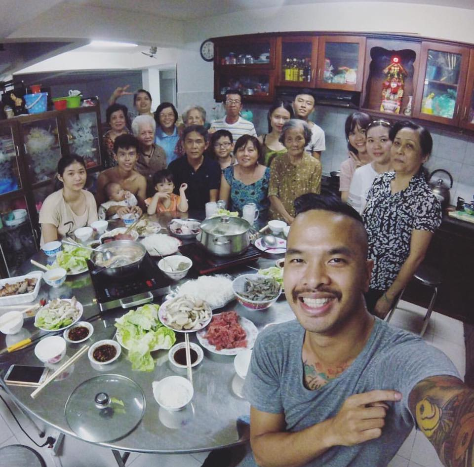 My entire family in Vietnam that I haven't seen since 2000!