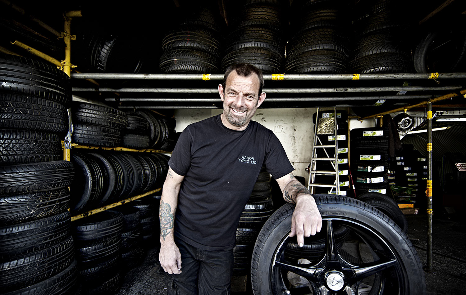 Leyton Tyreman. This gentleman has worked for over 20 years running his own tyre business.