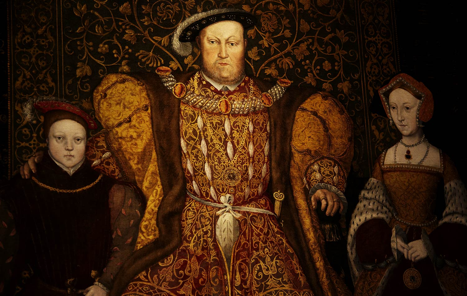 Henry the 8th and his last wife and only surviving Son.