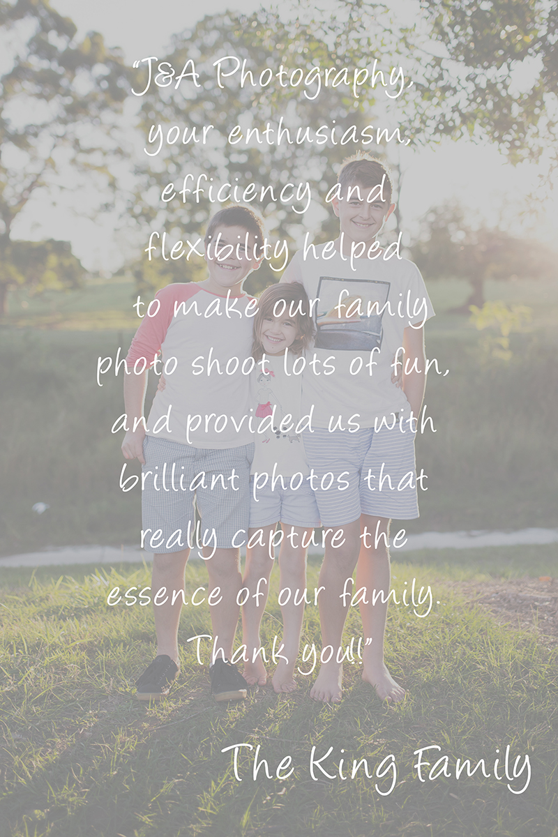 Family Photography Testimonials