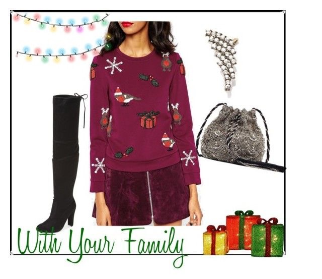 Sweater  |  Skirt  |  OTK Boots  |  Bag  |  Ear cuff