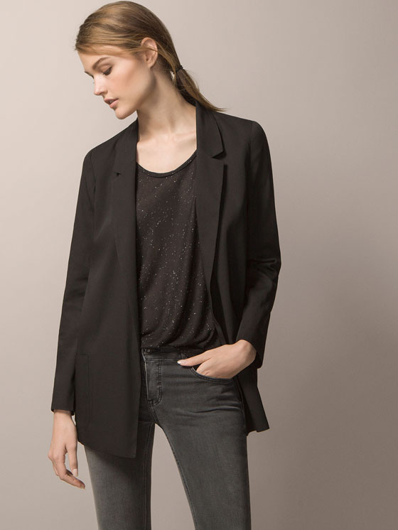 Flowy Black Jacket