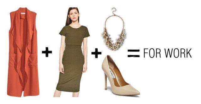 H&M Long Vest     Zara Ribbed Crossover Back Dress     Francesca's Holmes Pearl Statement Necklace     Steve Madden Proto Pumps
