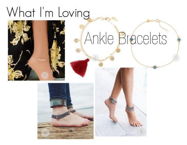 Initial Bar Anklet  |  Red Tassel Gold Chain Anklet  |  Beaded Evil Eye Anklet  |  Silver Tassels Raindrops Ankle Sets  |  Delhi Anklet Set