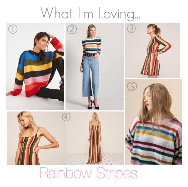 1.  Urban Outfitters Red Uo Kari Oversized Striped Sweater  | 2.  F21 Ribbed Multicolor Striped Sweater  | 3.  Reformation Polk Dress  | 4.  Reformation Tudor Dress  | 5.  Genuine People Over-Sized Loose Striped Sweater