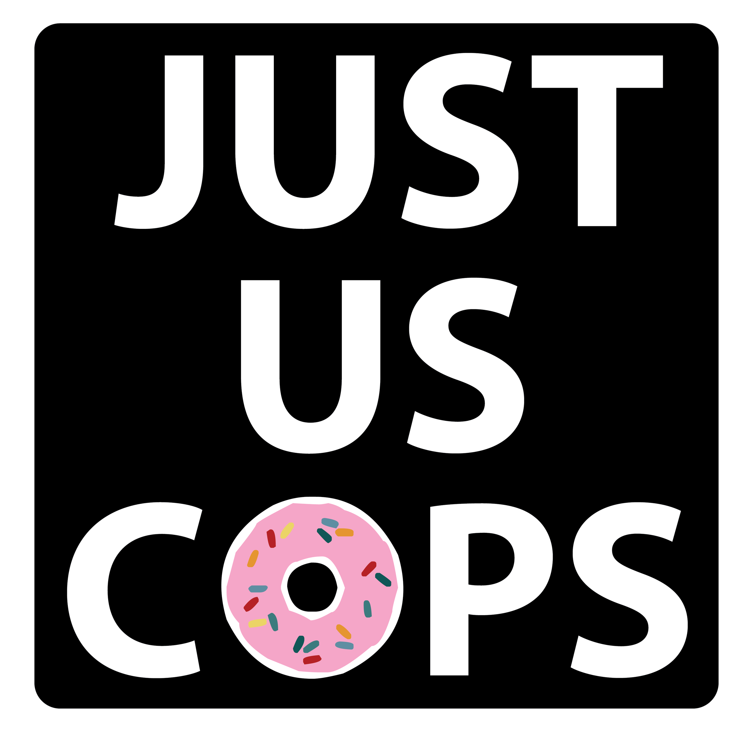 Click the donut and download the Just Us Cops ebooks now!