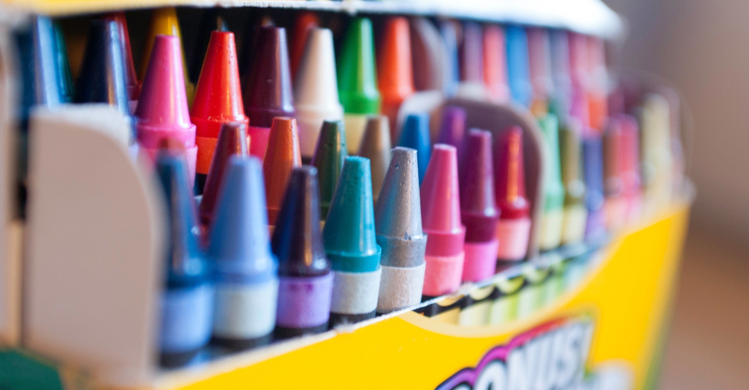 Crayons for the multi-taskers in the room.