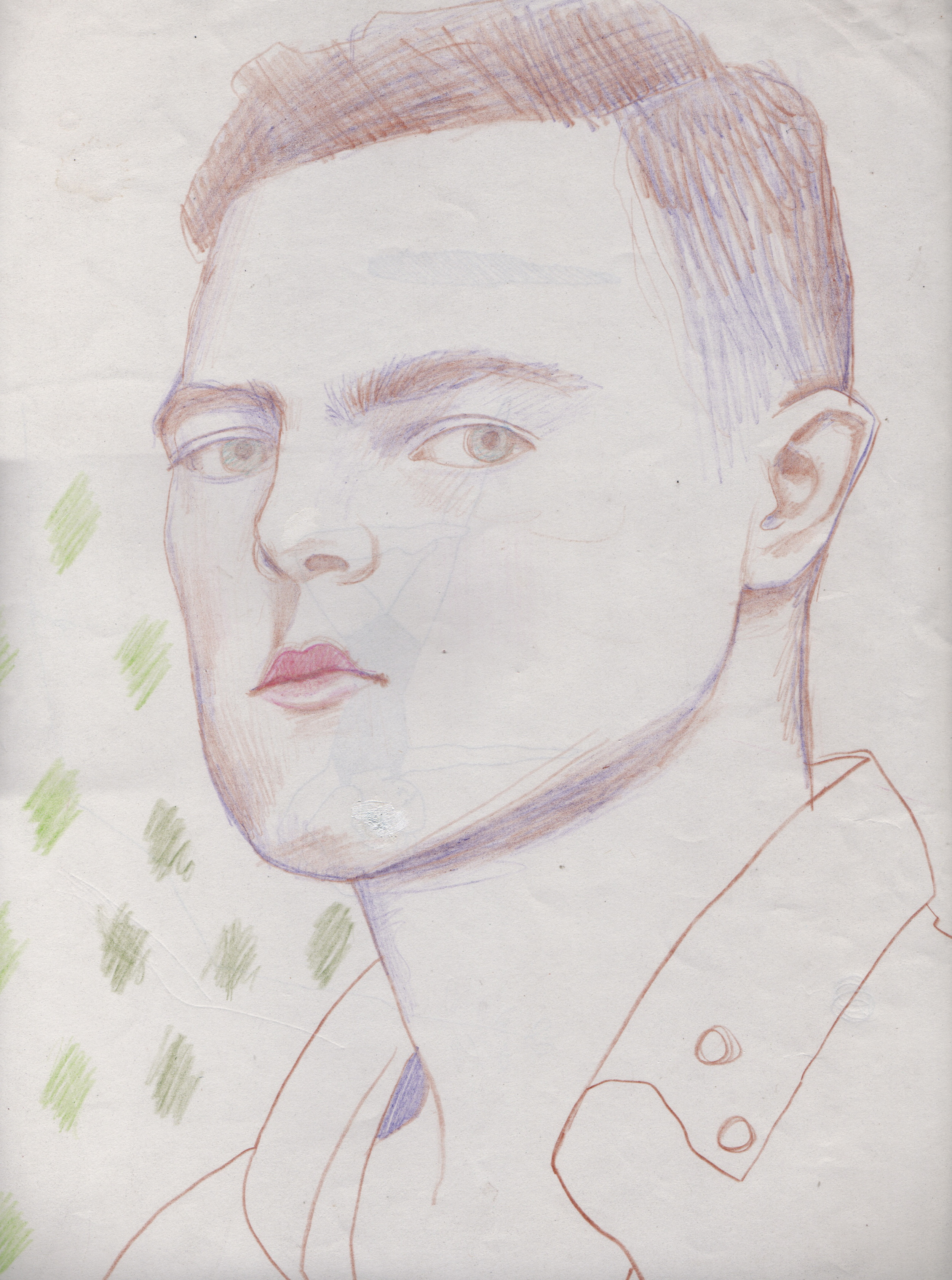 """UNTITLED    colored pencil on paper, 12"""" x 18"""",2008"""