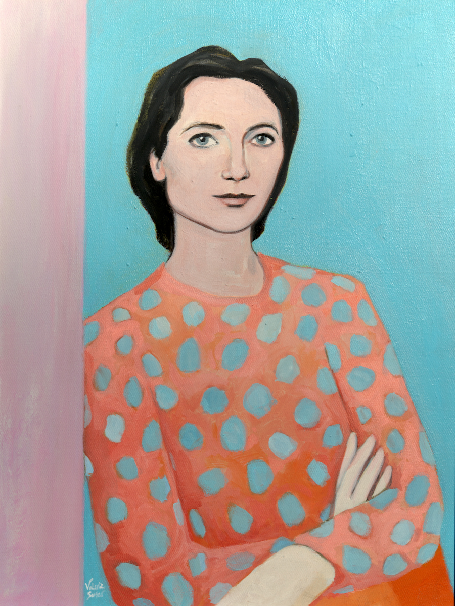 "(sold)    LYDIA DAVIS    oil, acrylic, watercolor on canvas, 18 x 24"", 2016"