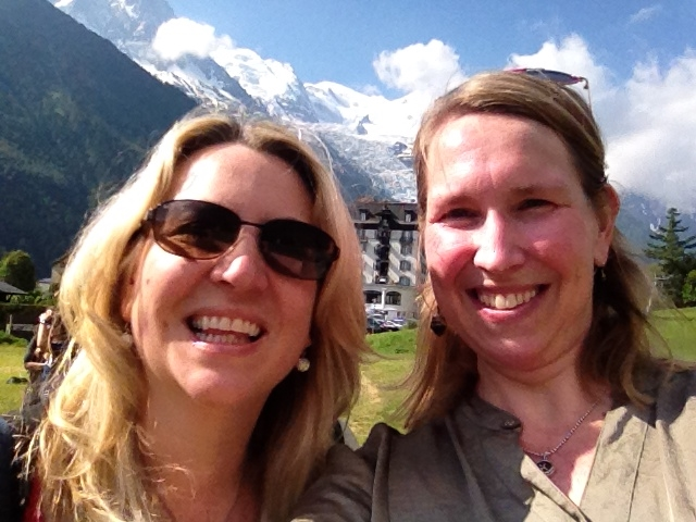 Cheryl Strayed and me in Chamonix, France.
