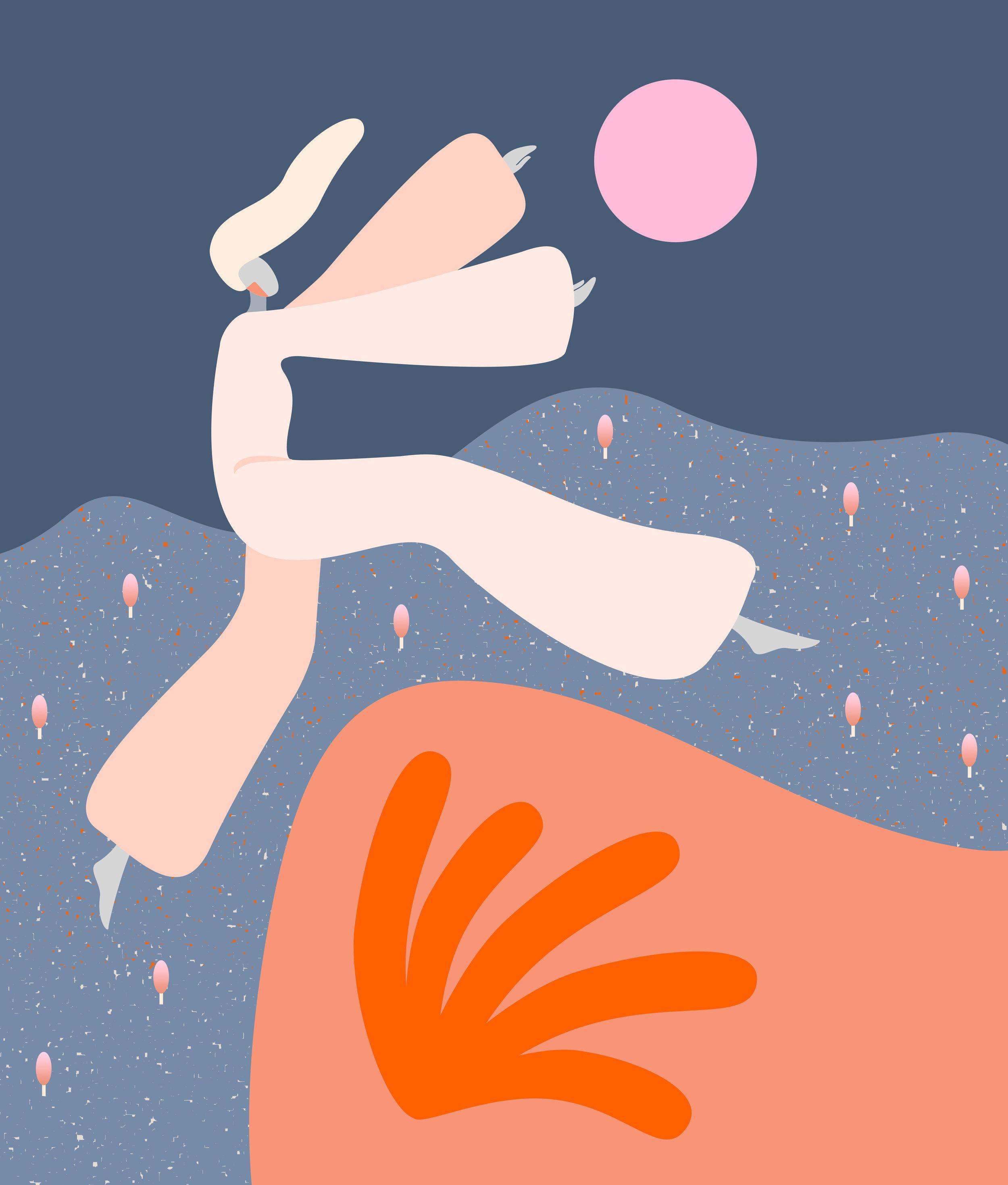 Dance of spring, App illustration, Calender