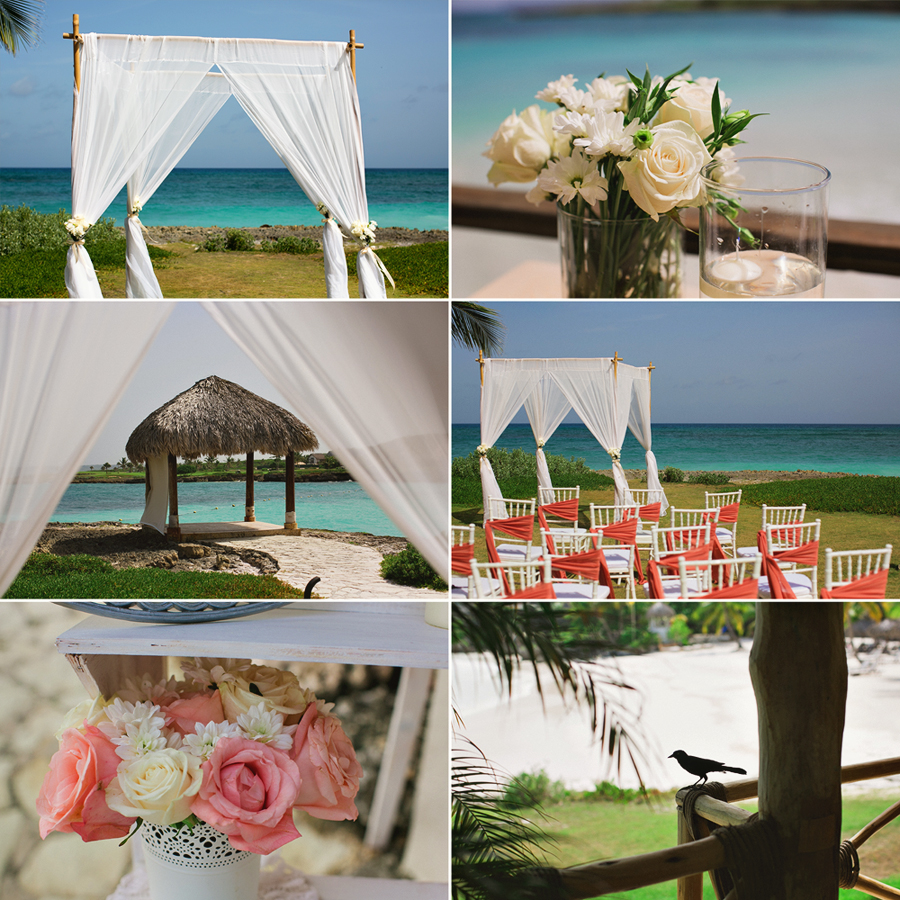 La Palapa ceremony collage
