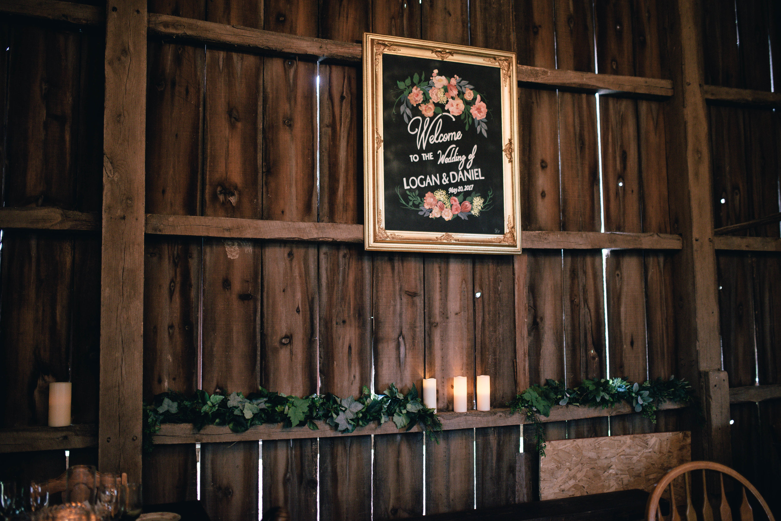 Annnnnd now *drumroll* to see inside that beautiful barn all the incredible time and effort Logan's family + friends poured into making each detail so incredibly stunning and truly magical!